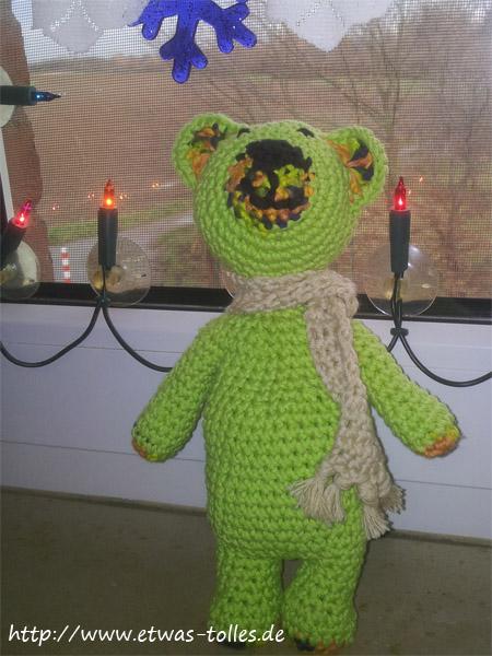 Der Wärme-Teddy kurz vor seiner Abreise