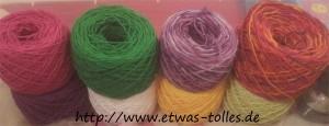 Fertig gewickelte Wolle