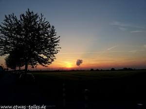 Sonnenuntergang in Wesseling