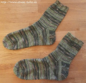 Fertige Toe-Up-Socken Paarbild